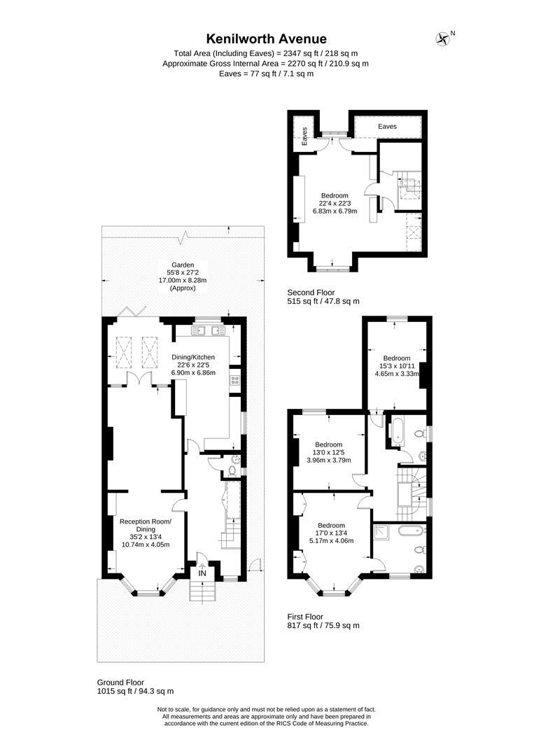 Floorplan for Kenilworth Avenue, London